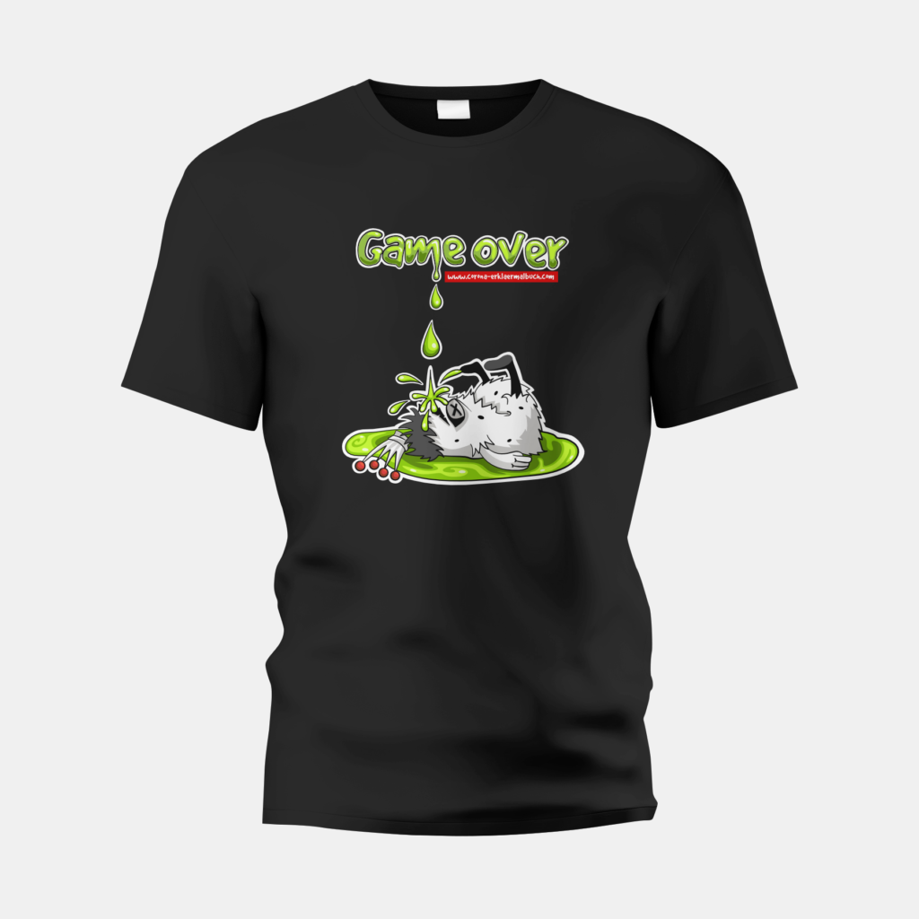 T-Shirt schwarz Game Over 04